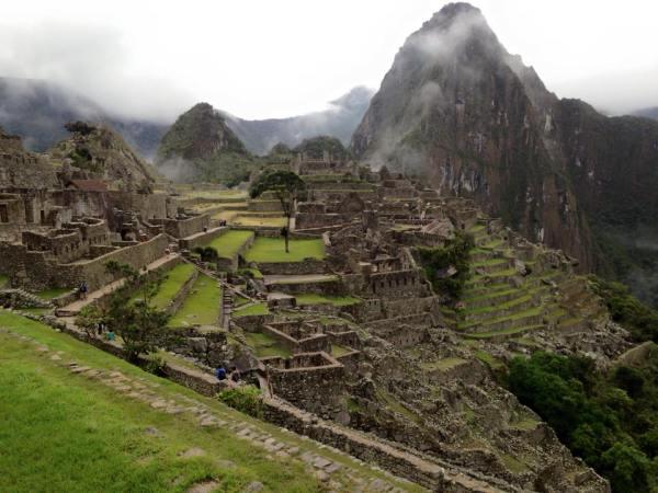 Vista del Huayna Picchu, Perú