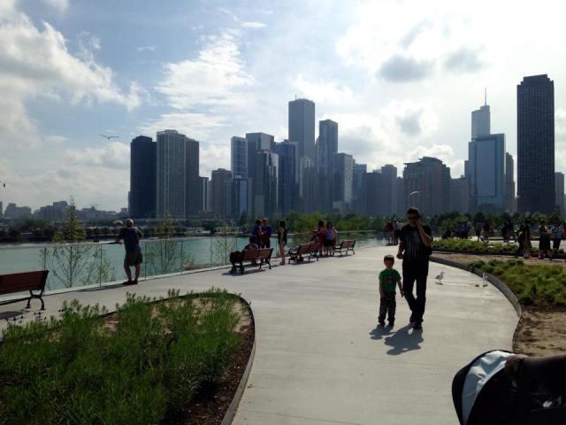 Navy Pier, en el Lago Michigan. Chicago