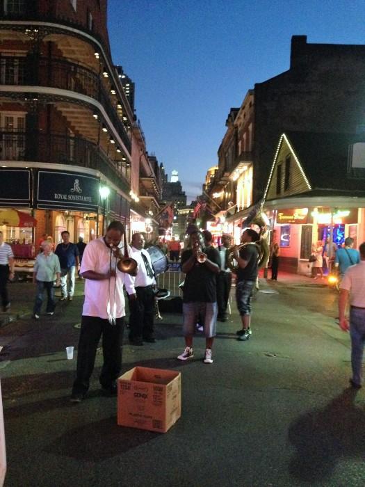 Musicos callejeros de Jazz en Nueva Orleans