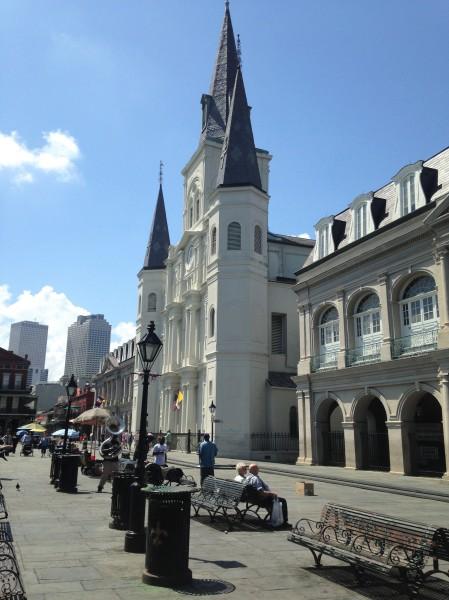 St. Louis Cathedral en Jackson Square, Nueva Orleans