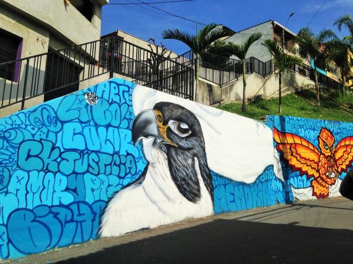 Grafittis en la comuna 13 de Medellín