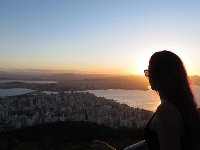 Atardecer en Florianapolis, en Morro da Cruz.