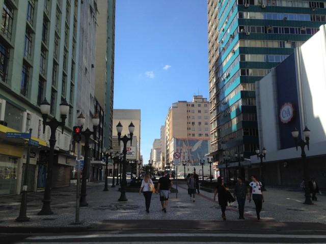 Peatonal XV de novembro, curitiba