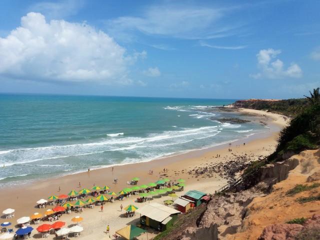 Vista de Praia do amor en Pipa, Brasil