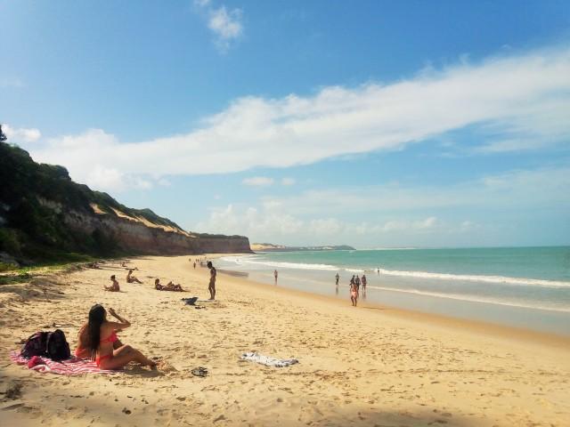 Praia dos golfinhos en Pipa, Brasil