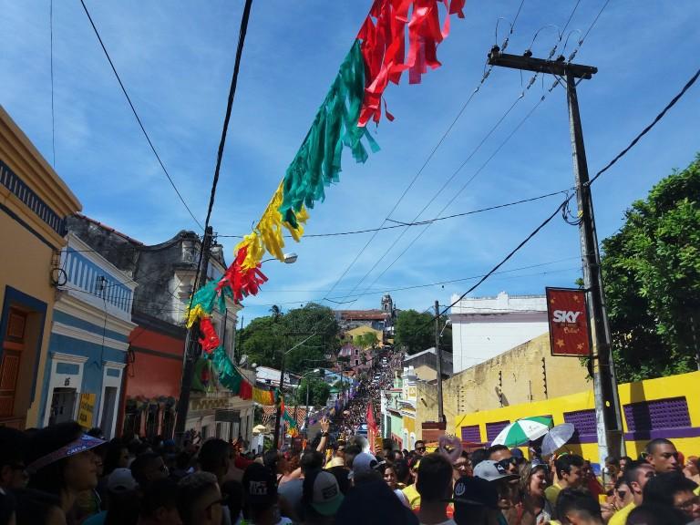 Las calles de Olinda en pleno Carnaval