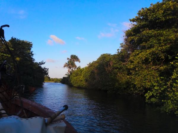 Rio Pegruiças enel Parque Nacional de los Lençois Maranheses