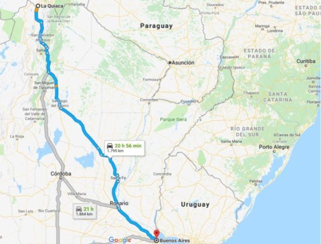ruta 34 a dedo - Argentina