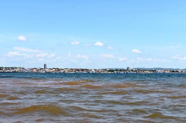 Santarem - confluencia de rio tapajos y rio amazonas